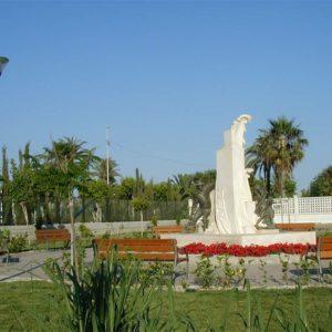 Salobreña Escultura a la caña-de-azucar en Parque La Fuente