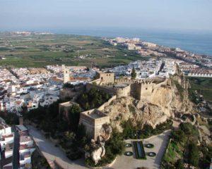 Vista aérea del Castillo Salobreña.