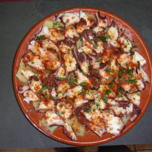 Pulpo. Gastronomía en Salobreña