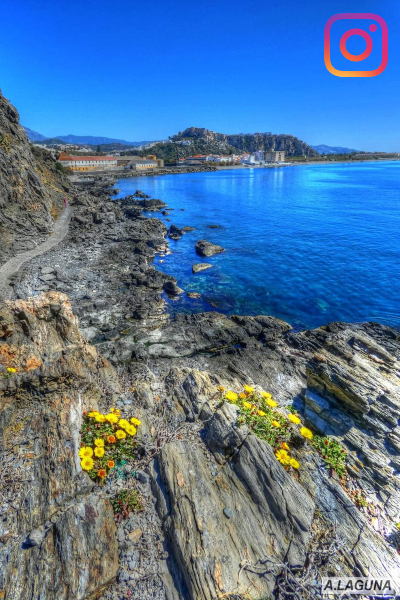 Senda Mediterránea. La Caleta. Foto de A. Laguna. Salobreña Costa Tropical Andalucia España