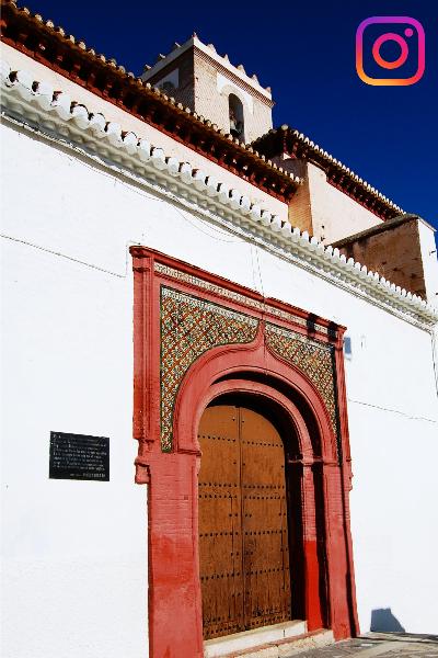 Puerta de Iglesia Ntra. Señora del Rosario. Casco Antiguo. Salobreña. Salobreña Costa Tropical Andalucia España